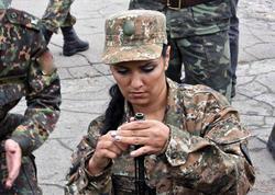 """Ermənistan müharibəyə qadınları <span class=""""color_red"""">YOLLAYIR - FOTO</span>"""