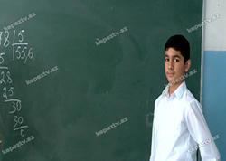 Gəncənin 13 yaşlı dahisinin riyazi hesablamada yeni kəşfi - VİDEO