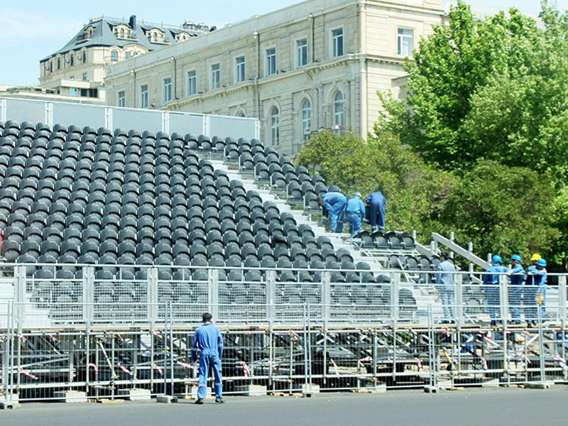 """Formula-1""in tribunası hazırlanır - FOTOSESSİYA"