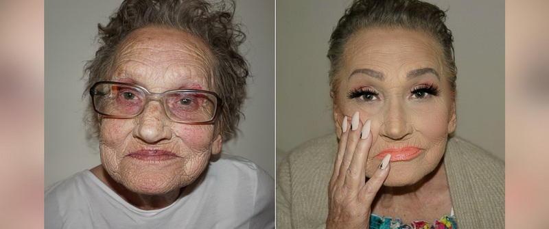 Nənəsini 30 yaş cavanlaşdırdı - FOTOlar