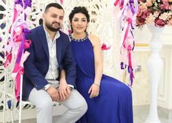Nazim xanımı ilə ad günündə - FOTO
