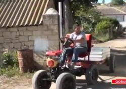 """350 manata traktor düzəltdi - <span class=""""color_red"""">100 km-ə 2 litr benzin işlədir - VİDEO - FOTO</span>"""