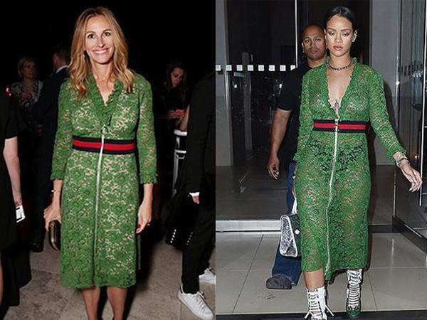 Rihanna ilə Culya Roberts eyni libasdan geyindi