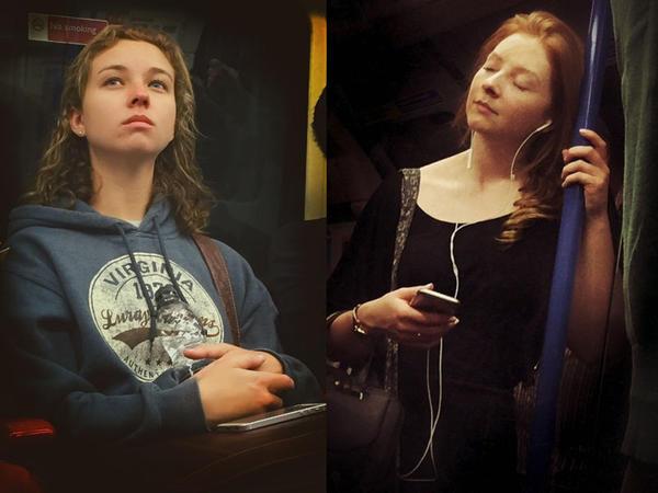 Metroda çəkdiyi fotoları şedevrlərə döndərir - FOTO