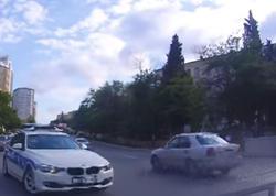 Bakıda yol polisinin 60 manat və 3 ballıq qayda pozuntusu - VİDEO