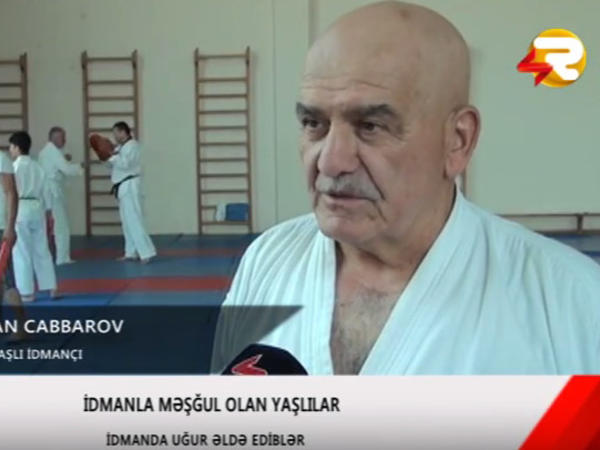 66 yaşlı taekvondoçu Qurban dayı - VİDEO
