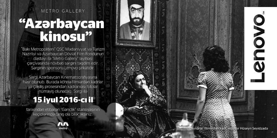 Metroda Azərbaycan kinosu - FOTO