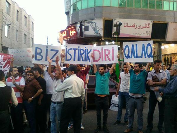 İranda azərbaycanlılar yenidən etirazlara başladı - FOTO