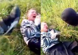 Şok kadrlar: balaca qızları zorlayanı döyüb öldürdülər - YENİLƏNİB - VİDEO - FOTO +21
