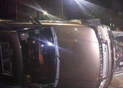 """Türkiyədə """"Range Rover"""" körpüdən aşdı, azərbaycanlı qadın yaralandı"""