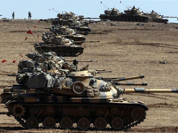 Karkamış sərhədindəki türk tankları Suriyaya girdi - YENİLƏNİB