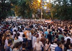 Yerevanın Azadlıq meydanında etiraz yürüşü keçirilib