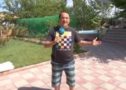 Xalq artistinin dəbdəbəli bağ evi - VİDEO