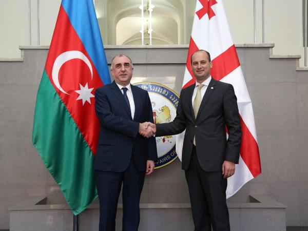 Elmar Məmmədyarov Gürcüstanın xarici işlər naziri ilə görüşüb - YENİLƏNİB - FOTO