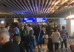 Frankfurt aeroportuna vəlvələ salan adam tutuldu - YENİLƏNİB - VİDEO - FOTO