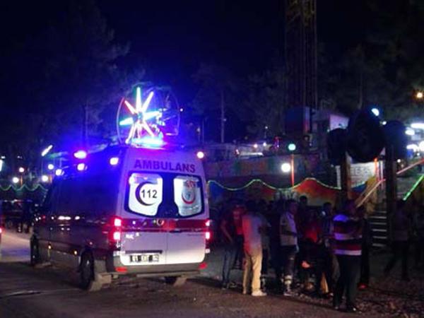 Lunaparkda BƏDBƏXT HADİSƏ: 11 yaralı - FOTO