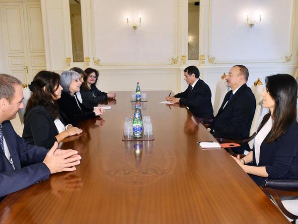 Prezident İlham Əliyev Bolqarıstanın vitse-prezidentini qəbul edib - FOTO