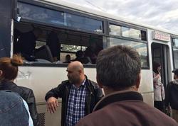 Bakıda yük maşını sərnişin avtobusu ilə toqquşdu - FOTO