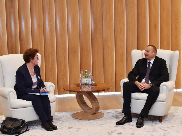 Prezident İlham Əliyev BMT baş katibinin müşavirini qəbul edib - FOTO