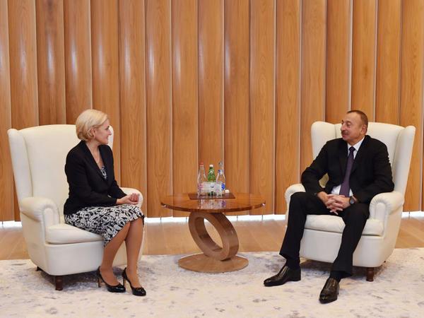 Prezident İlham Əliyev Rusiya Hökuməti sədrinin müavinini qəbul edib - FOTO