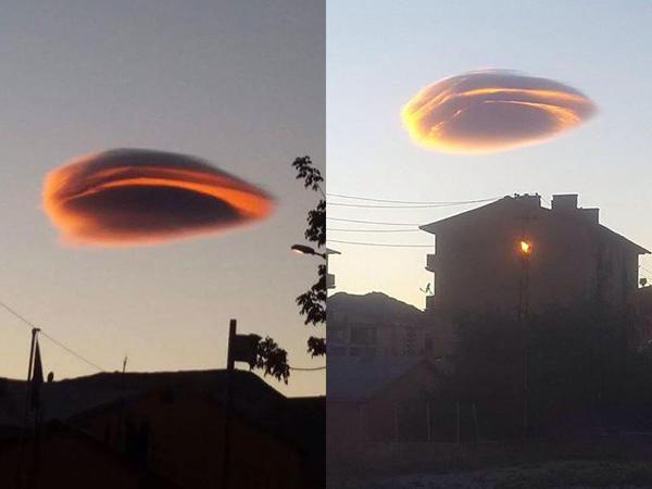 Türkiyədə UFO-ya bənzəyən bulud peyda oldu - FOTO