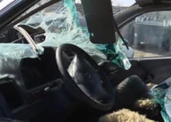 """Avtomobil aşdı, 1 nəfər öldü - <span class=""""color_red"""">Şəmkirdə ağır qəza - FOTO</span>"""