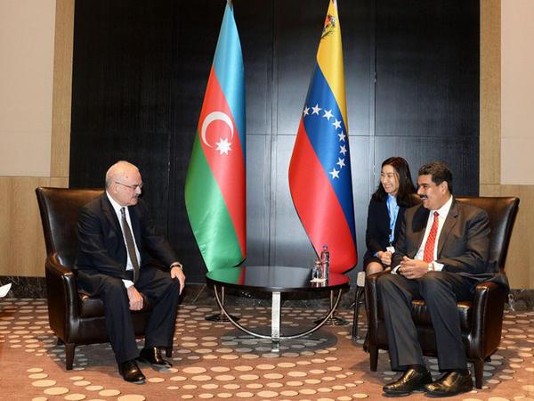Venesuela prezidenti Artur Rasizadə ilə görüşdü - FOTO