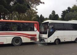 Bakıda iki avtobus toqquşdu: yaralananlar var - VİDEO