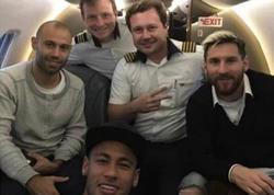 Messi Braziliya ilə oyuna Neymarın təyyarəsində yollandı