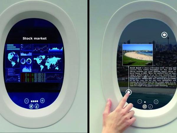 Sensor ekranlı təyyarə illüminatorları istehsal edildi