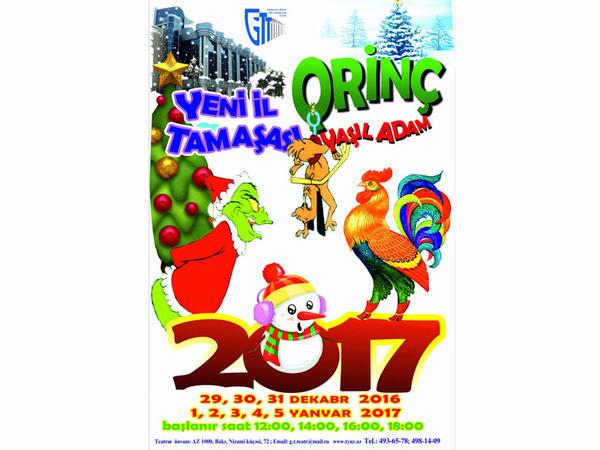 """Dövlət Gənc Tamaşaçılar Teatrında """"Qrinç"""" göstəriləcək"""
