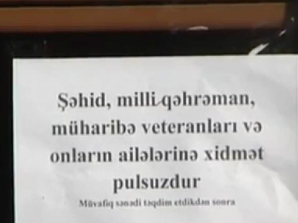 Bu restoranda veteranlara, şəhid ailələrinə pulsuz xidmət göstərilir - VİDEO