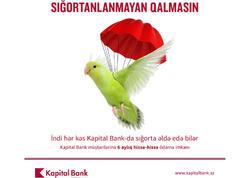 Kapital Bank kreditlə sığorta paketləri təklif edir