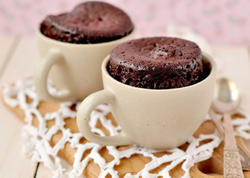 Fincanda şokoladlı keks - 3 dəqiqəyə!