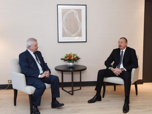 Prezident İlham Əliyev Davosda bir sıra görüşlər keçirib - YENİLƏNİB - FOTO