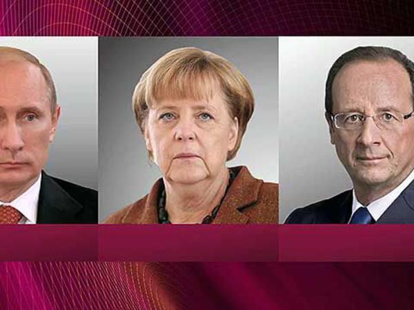Putin, Merkel və Olland arasında telefon danışığı olub