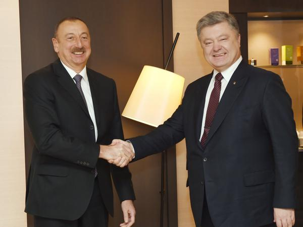 Davosda Azərbaycan və Ukrayna prezidentlərinin görüşü olub - FOTO