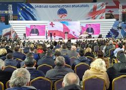 Saakaşvilinin partiyası qurultay keçirir - FOTO