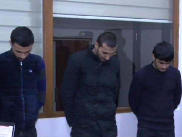 Ev və maşınlara qənim kəsilən 3 gənc saxlanıldı - VİDEO - FOTO