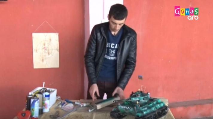 Azərbaycanda məktəbli hava ilə işləyən silah düzəltdi - VİDEO - FOTO