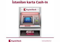 Kapital Bank bankomatlarına yeni funksiya əlavə olunub