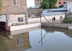 Abşeronda GÖL DAŞDI - Həyətləri su basdı