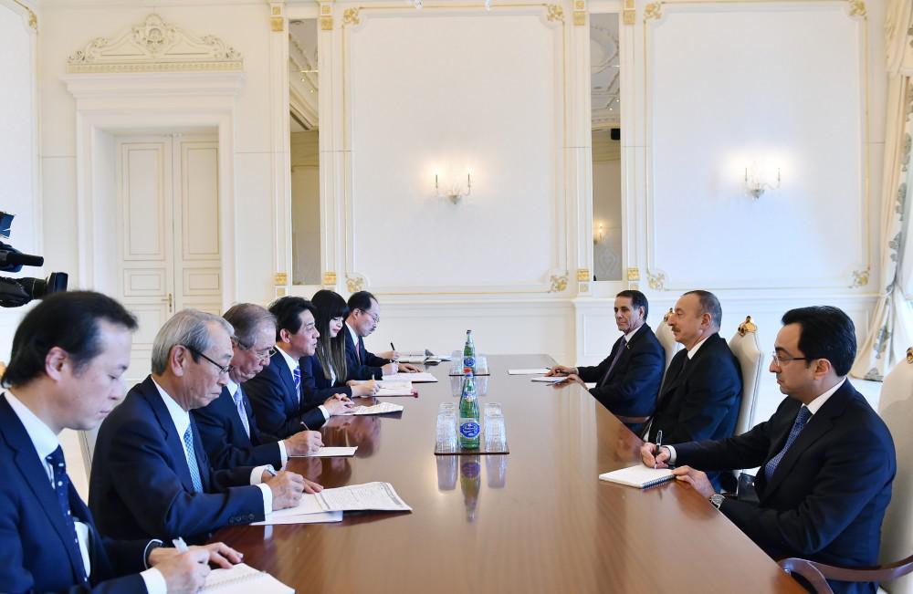 Prezident İlham Əliyev Yaponiyanın dövlət nazirini qəbul edib - FOTO