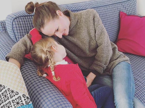 Məryəm qızı ilə - FOTO