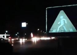 Bakıda insanları ölümə aparan piyada keçidi - VİDEO