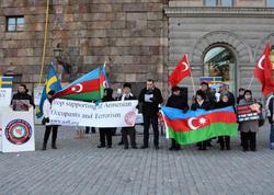 """İsveç parlamentinin önündə <span class=""""color_red"""">Xocalı aksiyası - FOTO</span>"""
