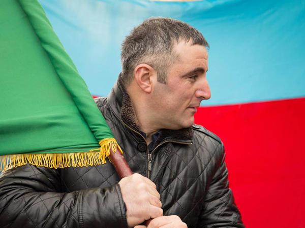 """Kiyevdə Ermənistan səfirliyinin qarşısı: <span class=""""color_red"""">""""RƏDD OL Qarabağdan!"""" - FOTO</span>"""