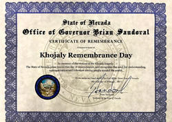 ABŞ-ın Nevada ştatının qubernatoru Xocalı faciəsinə dair bəyanat imzalayıb - FOTO