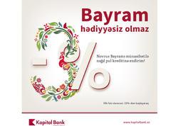 Kapital Bank-dan Novruz endirimləri