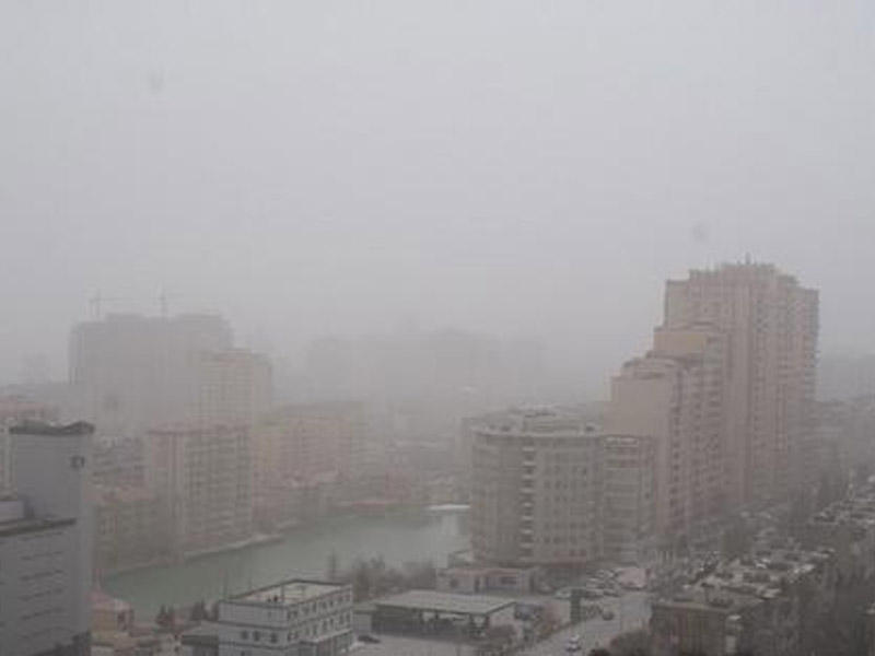 Türkmənistandan Azərbaycana toz dumanı gəlir